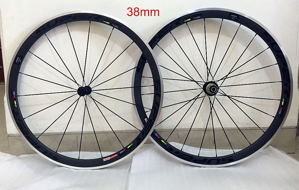 Superteam Carbon Clincher Wheelset Road Bike Alumunium Alloy Brakeline
